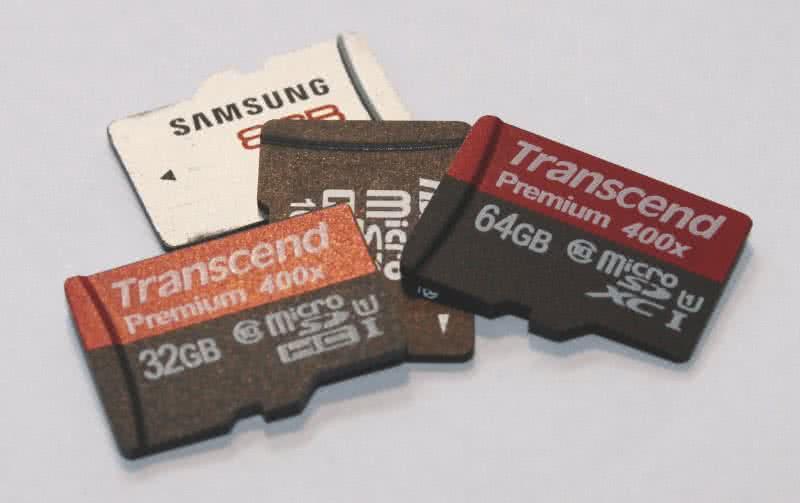 Micro SD-Karten.
